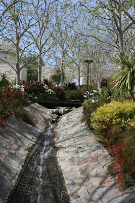 The Getty Center garden stream