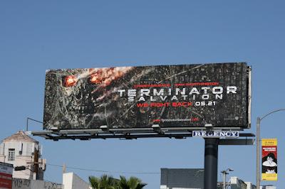 Terminator Salvation skull movie billboard