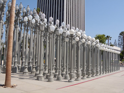 202 vintage lamp posts Urban Light sculpture by Chris Burden LACMA
