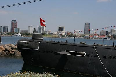 Scorpion Soviet submarine at Long beach port