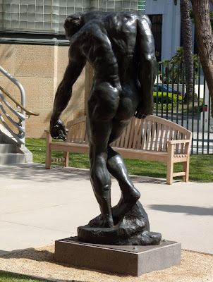 The Shade Rodin bronze sculpture from behind