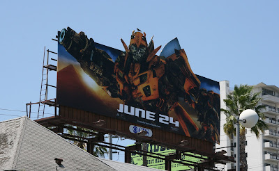 Bumblebee Transformers 2 movie billboard