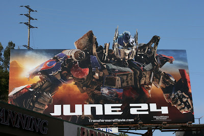 Optimus Prime Transformers 2 movie billboard