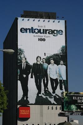 Entourage season 5 billboard on Sunset Blvd