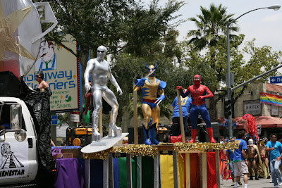 Marvel heroes at WEHO Gay Pride Parade 09