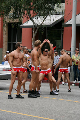 Hot guys at West Hollywood gay Pride Parade 2009