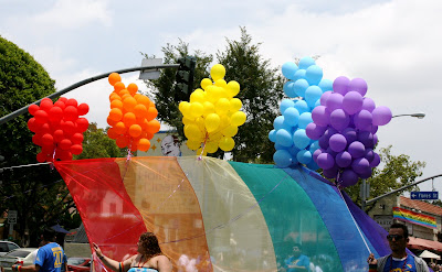 Colourful balloons at West Hollywood Gay Pride Parade 2009