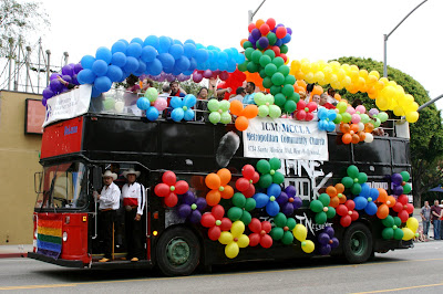 Community church bus at West Hollywood Gay Pride Parade 2009