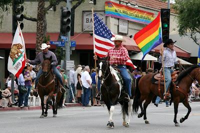 Horse riding cowboys WEHO Gay Pride Parade 2009