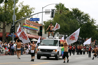 West Hollywood Gay Pride Parade 2009 Abbey float