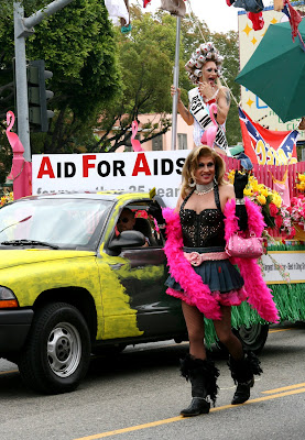 Drag queens at West Hollywood Gay Pride Parade 2009