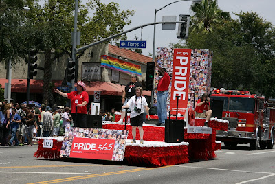 Last float at WEHO Gay pride Parade 2009