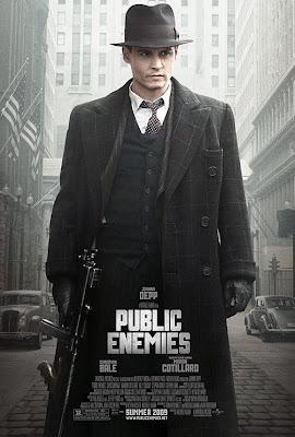Public Enemies Johnny Depp movie poster
