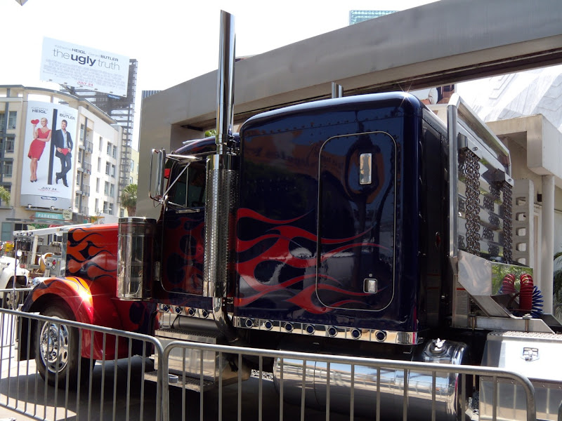Optimus Prime truck side view