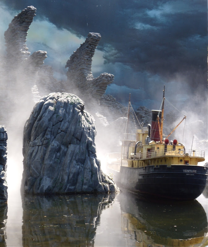 Peter Jackson's King Kong SS Venture ship and Skull Island models