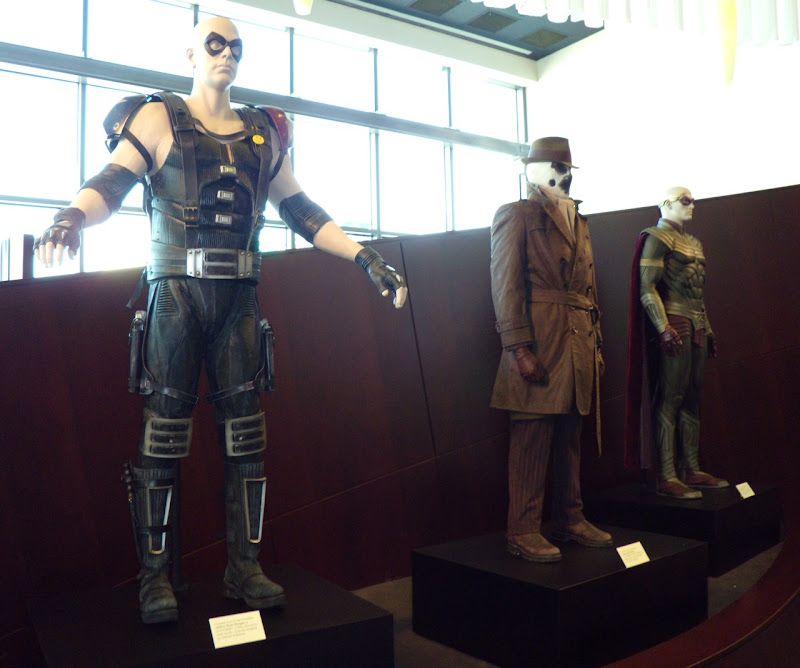 Watchmen movie costume exhibit at ArcLight Sherman Oaks