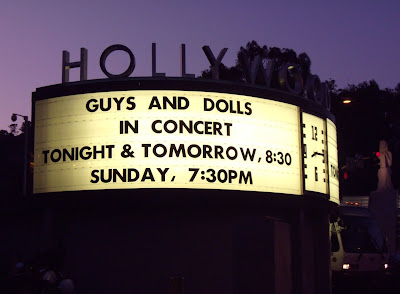 Guys and Dolls concert at The Hollywood Bowl