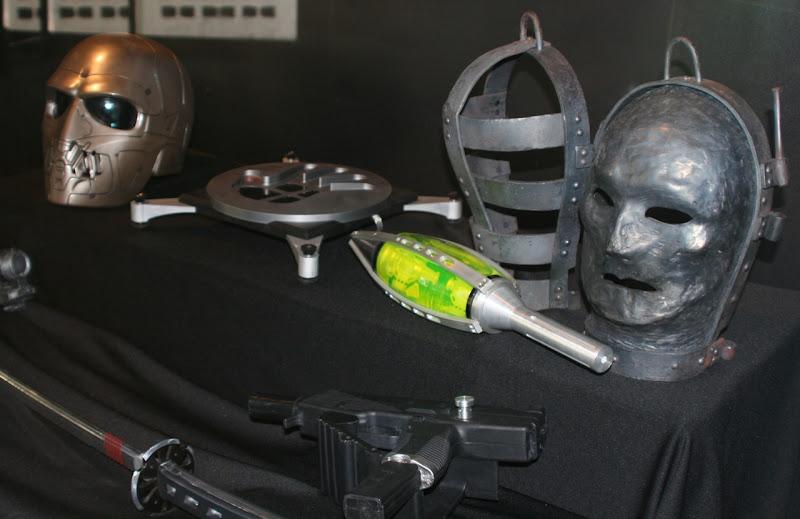 GI Joe film masks and weapon props