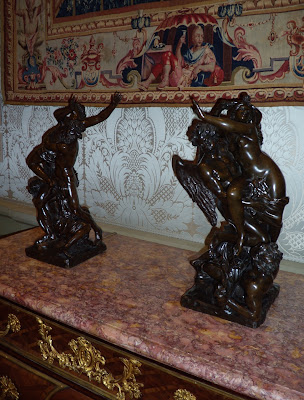 Winged French bronze sculptures from the 1700s