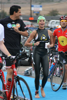 Celebrity Teri Hatcher Malibu Triathlon