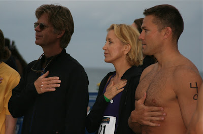 Felicity Huffman and Andy Baldwen at Malibu Triathlon