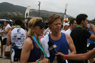Married couple Felicity Huffman and William H Macy at Malibu Triathlon