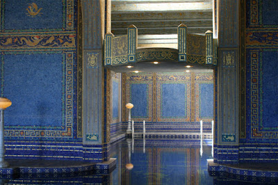 Roman Pool diving platform at Hearst Castle