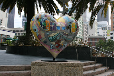 Hearts of San Francisco My Heart sculpture
