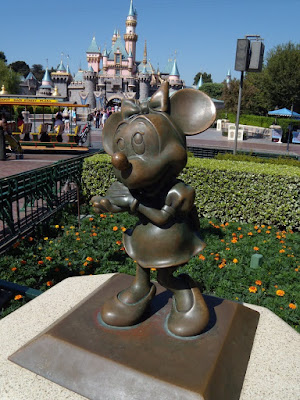 Minnie Mouse sculpture at Disneyland