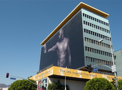 Male torso model billboard