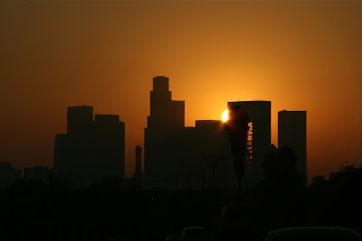 Downtown LA sunset