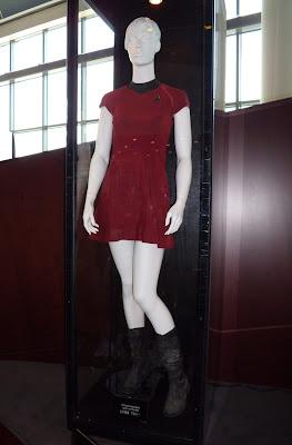 Red female Starfleet costumes form new Star Trek movie