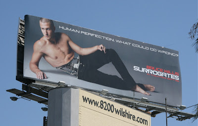 Surrogates film hot male model billboard