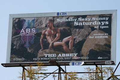 The Abbey hot male abs model billboard