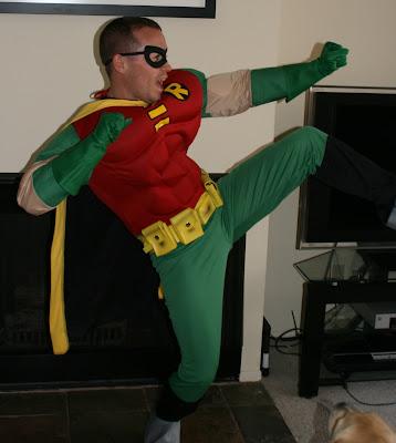 Halloween Robin in action