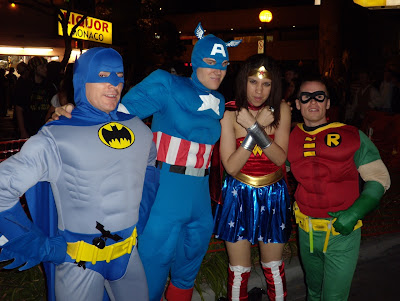WEHO Halloween comic book heroes