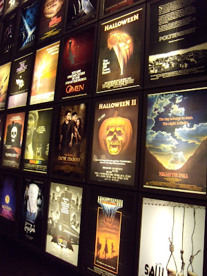 Film horror posters at ArcLight Sherman Oaks cinema