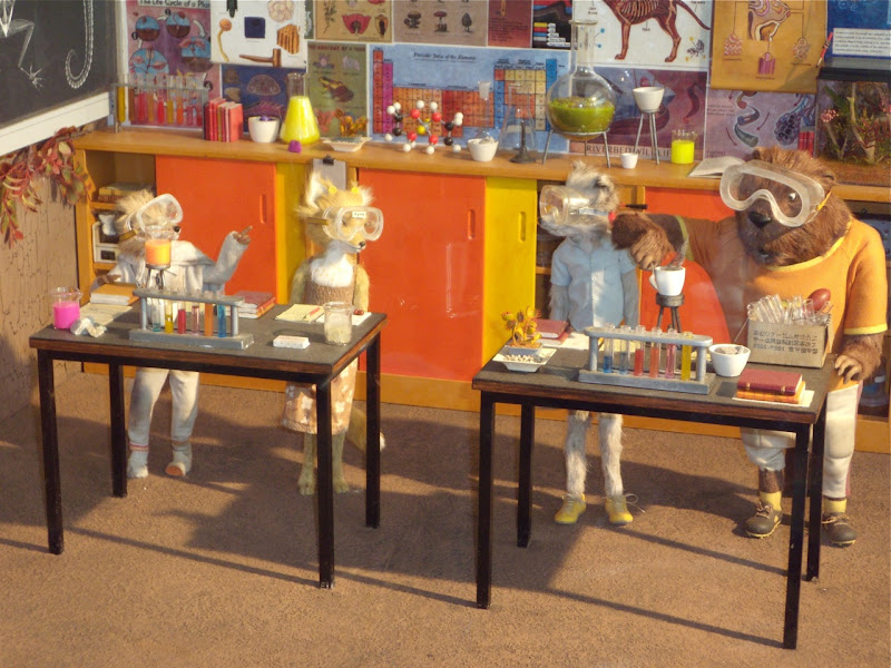 Fantastic Mr Fox stop-motion animation models