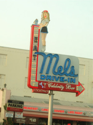 Mel's Drive-in sign
