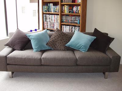 Steele sofa and new cushions