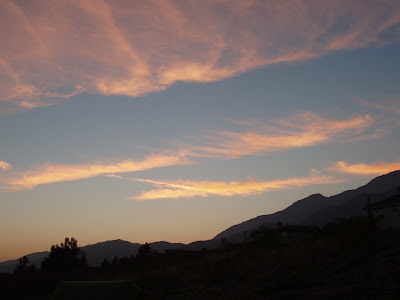 California sky above the San Gabriel mountains