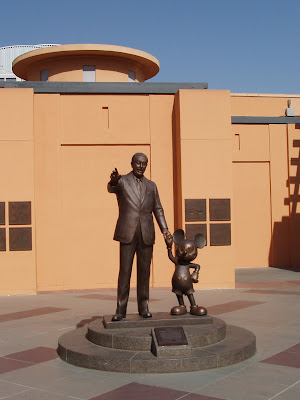 Walt Disney and Mickey Mouse sculpture