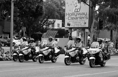 Police support at West Hollywood gay Pride Parade 09
