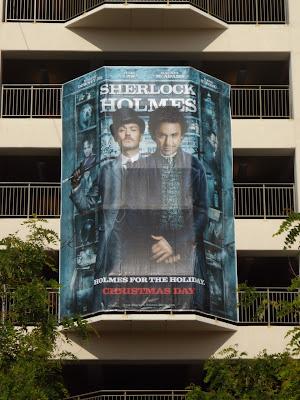 Sherlock Holmes movie billboard