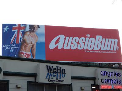 Aussiebum hot male underwear model billboard