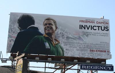 Matt Damon Invictus movie billboard