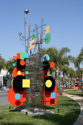 West Hollywood Peter Shire colourful sculptures