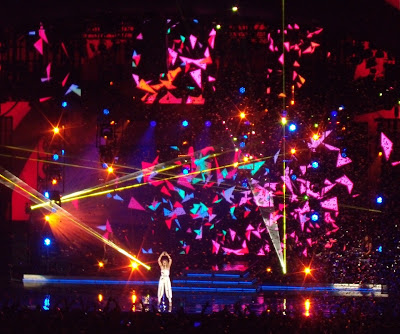 Kylie Minogue Hollywood Bowl finale lightshow