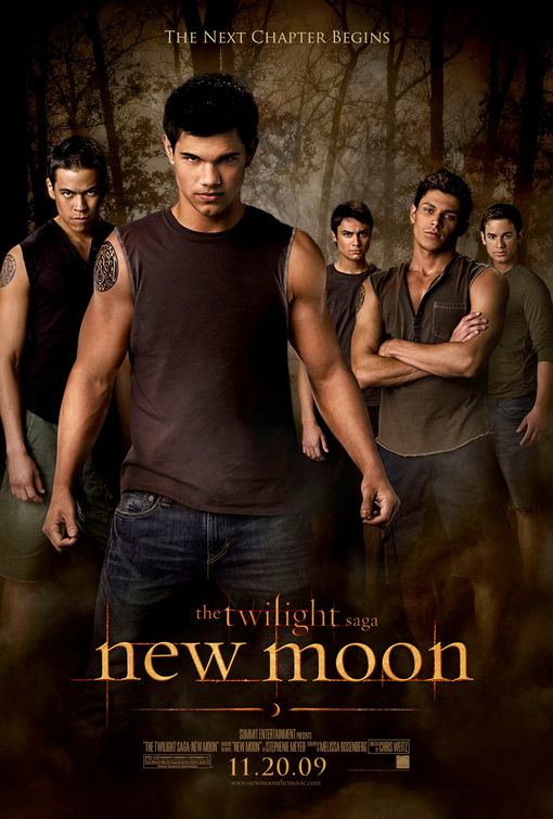 Twilight New Moon werewolves movie poster