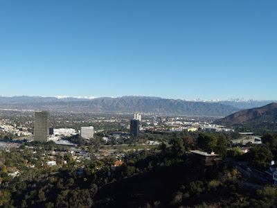 Snow capped Los Angeles Mountains